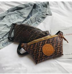 2 Cores F Carta PU Fanny Pack Saco Da Cintura Unisex Hip-Hop Cinto saco PU Messenger Bags Sacos de Ombro Saco de Sacos Ao Ar Livre CCA11652 1 pcs de