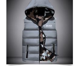 Diseñador de lujo Bos Jacket Moda para hombre Abrigos de chaquetas con pato blanco Abajo Chaleco de cuello Diseñador de la marca de hombres Abrigo sin mangas desde fabricantes