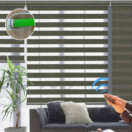 2019 cortinas zebra para janelas Cortinas de rolo elétricas personalizadas da zebra das cortinas motorizadas para a decoração de Windows cortinas zebra para janelas barato