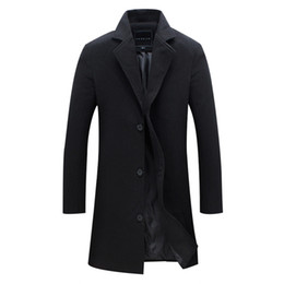 b06565a54f6 New Men Wool Blends Suit Design Wool Coat Men Casual Trench Coat Design  Slim Fit Office Suit Jackets Drop Shipping