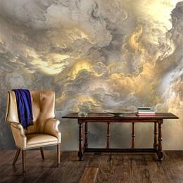 Mural da etiqueta da nuvem on-line-Bacaz 3D Parede Nuvem Decoração Papel De Parede para Sala de estar Fundo 3d Papel De Parede Mural papel De Parede 8d Nuvem de papel autocolante Coberturas