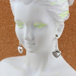lampadari in tessuto Sconti Cuore intrecciato con cuore cavo Orecchini con ciondolo orecchini a forma di pesce in argento 22 paia / lotto Gioielli lampadario in argento antico fai-da-te 12.2x30.2mm A-535e