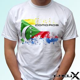 2019 países engraçados Comores bandeira - camisa branca de t top país design - mens womens crianças tamanhos do bebê Engraçado frete grátis Unisex Casual Tshirt top desconto países engraçados
