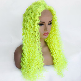 2019 peruca branca afro 20-26inch afro crespo peruca dianteira do laço cacheados 13 * 4Swiss Lace perucas sintéticas vermelho Borgonha alaranjadas profundas perucas de cabelo encaracolado para as mulheres negras peruca branca afro barato