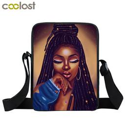 bolsos de hombro de las niñas Rebajas Las niñas de dibujos animados afro bolsa de mensajero de África Brown chicas totalizadores Mini Cross pequeña bolsa de hombro de los bolsos bolsos de las mujeres Kid mochilas