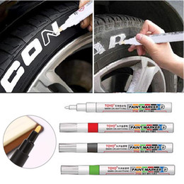 painting abs plastics Promo Codes - 1pc ABS Plastic Marker Pen Graffiti Scratch Repair Pen for Tires Metal Glass Wooden Cars Painting Pens Cars Accessories Supplies