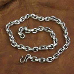 Застежка с крючком из серебряной рыбы онлайн-LINSION стерлингового серебра 925 рыба крюк застежка мужская цепь байкер панк ожерелье TA141