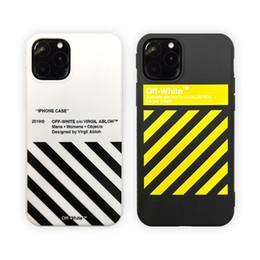 2019 custodia sottile dell'armatura sgp per il iphone Twill Off Stripes Ow cassa del telefono per IPhone 11 Pro XS MAX XR copertura posteriore Bianco TPU per IPhone11 pro X 7 8 più Coque Fundas