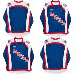 Рейнджеры хоккейные майки онлайн-Kitchener Rangers Jerseys 100% вышивка cusotm любое имя любое число Blue Mens Женская молодежная горячая распродажа Хоккей Трикотажные изделия