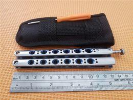 Wholesale Meilleur prix Papillon Bleu BM42 Couteaux Balisong Titane Papillon BM43 Couteau Uni Couteaux tactiques EDC avec poche Nouveau dans l emballage d origine