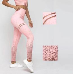 nuevos diseños de leggings Rebajas 2019 Nuevo diseño mujer imprimir glitter leggings de cintura alta elástico leggings ajustados empuja hacia arriba fitness pantalones slim