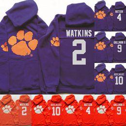 2019 watson 10 NCAA Clemson Tigers Hoodie Jersey   2 Watkins Howard 4  DeShaun Watson 9 d810d2e06