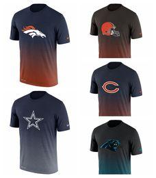 Denver Broncos Dallas Cowboys Cleveland Browns Chicago Bears Carolina Panthers Novo Dia Melhor Performance T-Shirt de