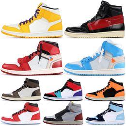 nike air jordan 1 off white OG Chicago Travis Scott 1s Spider Man UNC COUTURE blanco Baloncesto para hombre Homenaje a las zapatillas de deporte para