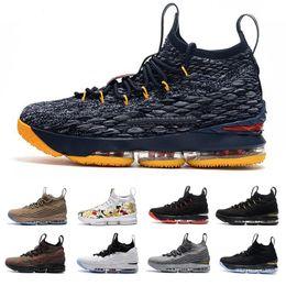 2020 tênis de basquete tamanho 15 Designer 15 tênis de basquete para homens preto branco moda respirável rei 15 s EP tênis de treinamento esportivo tamanho 40-46 tênis de basquete tamanho 15 barato