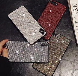 Telefones celulares de luxo diamantes on-line-Luxo diamante strass caso de telefone celular para o telefone 6 case iphone 7 7 mais 8 8 plus iphone X XS XR XS MAX caso de telefone designer