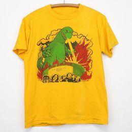 2019 винтажные майки-хип-хоп Синяя культовая рубашка Oyster Футболка с винтажным принтом 1980 года. Корова. Новогодний подарок. Футболка с принтом хип-хоп. дешево винтажные майки-хип-хоп