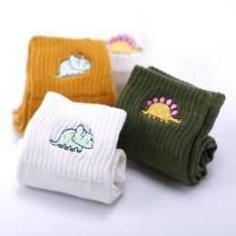 calze kawaii Sconti Cute creativo Dinosaur Cotton Cotton Socks Moda ricamo Lovely Animal Dinosaur Socks Nuovo Kawaii Cartoon Spring Autumn