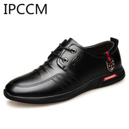 Трендовая обувь британская онлайн-IPCCM Summer New Business Casual Fashion Trend To Take The Korean Version Of The British Soft Men's Shoes Front Tie