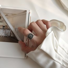 2019 ювелирные изделия из стерлингового серебра Antique 925 Sterling Silver  Motorcycle Ring Double Band Ring Two Banded Knuckle Midi Finger Jewelry for Women Men дешево ювелирные изделия из стерлингового серебра