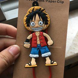 Regalos para niños luffy online-IVYYE 10 unids / lote One Piece Luffy Anime Bag Parts Accesorios de Dibujos Animados Bolsas Libro de Clip de Papel Regalos de Niños Marcadores Niños nuevos