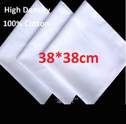 pintura batik Desconto 38 * 38 cm 100% Algodão Lenço Branco Para Tie Tingido Toalha Quadrada de Alta Densidade Pure White Bandans Suor Tingido Batik Bordado Pintura Cachecol