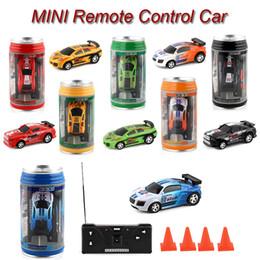 2019 bambino elettrico della batteria elettrica Mini rc auto 6 colori Mini-Racer auto telecomando Coca Cola Mini auto rc Micro Racing 1:45 Auto Bambini giocattoli SS236