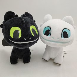 stuffed dragons Coupons - 22cm How to Train Your Dragon 3 Plush Toy 2019 New movie Toothless Light Fury Soft Dragon Stuffed Doll Christmas Gif C11
