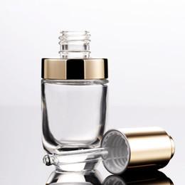 Prensa de aceite esencial online-Botella de aceite esencial del perfume 30ml Cosmética Con Cristal Piepette cuentagotas y de la cubierta de prensa, el más caliente del embalaje envase cosmético 30 ml