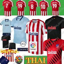Camisas para bebés online-19 20 JOAO FELIX Atlético de Madrid camiseta de fútbol los hombres 19 20 niños bebé camiseta de Fútbol M.LLORENTE MORATA SAUL KOKE Diego Costa Camisas XXS-4XL