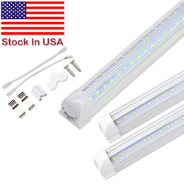 Canada Shop light Porte Refroidisseur LED Tube Intégré 4FT 5FT 6FT 8FT LED T8 72W Tube à LED Forme de V Tubes Fluorescent supplier white doors Offre