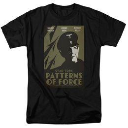 """Рубашки для мужчин бесплатно онлайн-Star Trek TOS """"Ep. 50 - Patterns Of Force"""" Футболка - 2T через 7X Мужчины Женщины Мужская Мода футболка Бесплатная доставка черный"""