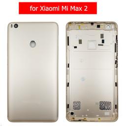 Original para xiaomi mi max 2 tampa traseira da bateria habitação traseira porta de metal para xiaomi mi max2 câmera lente de vidro reparação de peças de reposição de Fornecedores de caixa de bateria híbrida