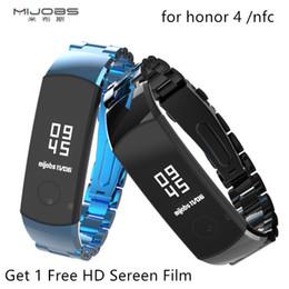 2019 bracciale nfc Mijobs honor 4 / nfc cinturino da polso in metallo per Huawei honor 4 / nfc cinturino da polso senza braccialetti in acciaio inossidabile sconti bracciale nfc