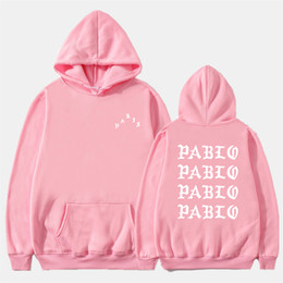 capuzes engraçados  Desconto Fashion Off Autumn Winter Sweatshirts Men Funny Letter Hoodies I Feel Like Pablo Hoodie Sweatshirt Hip Hop Fleece Pullover Tops