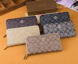 5 Cores Opcional de Luxo Designer De Couro Dos Homens Longo Bolsa Com Zíper Das Mulheres Da Marca de Moda Cartão Fêmea Carteiras Cartão De Crédito Carteira Com Caixa Original de