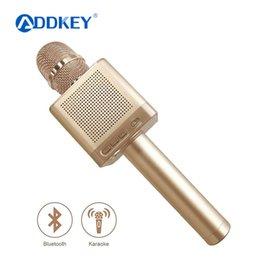 bluetooth spaß Rabatt Original MicGeek Q10S Drahtloses Bluetooth Magic Karaoke Mikrofon Mit 4 Lautsprechern MIC Schwarz Tragetasche Fun Voice Change