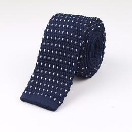 Gestrickte krawatten männer online-Männer gestrickte gestrickte Freizeit gestreifte Krawatten arbeiten dünne schmale dünne Krawatten für die Männer um, die dünne gesponnene Entwerfer-Krawatte KJ98