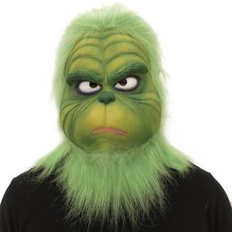 Зеленый монстр Гринч дрейф Маска поставки для рождественских костюмов аксессуар косплей головные уборы маски для лица смешные реквизит для производительности от Поставщики наушники sony bluetooth