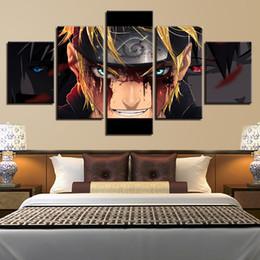 anime bilderrahmen Rabatt Moderne Leinwand HD Drucken Malerei Modularen Bilder 5 Stück / Stücke Naruto Anime Rolle Rahmen Wandkunst Poster Wohnkultur Wohnzimmer