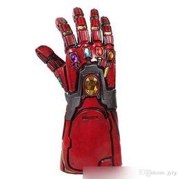Guanti supereroi online-Avengers 4 Endgame Iron Man Infinity Gauntlet Hulk Braccio Cosplay Thanos Guanti in lattice Maschera per armi Marvel Superhero Arma Puntelli per feste