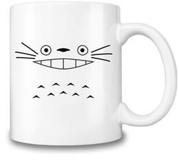 Холодная кружка онлайн-Tonari no Totoro Тематическая кружка кофе Totoro Face Hot Cold Beverages Cup Высокое качество керамики - 11 унций / 325 мл A Must for Anime Fan