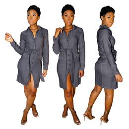 pannelli a tasca Sconti Progettista delle donne vestito delle donne con i telai tasca con pannelli a maniche lunghe abito femminile casuale Abbigliamento nuovo arrivo
