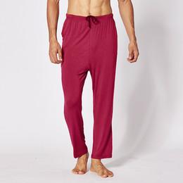 XXL / XXXL / XXXXL Büyük Boy Pijama Erkekler Yumuşak Modal Pijama Pantolon Rahat Gevşek Uyku Pantolon Nefes Erkek Uyku Pantolon supplier xxl modal pants nereden xxl modal pantolon tedarikçiler