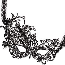Mascarada máscaras dança on-line-HandMade Black Party Costume Venetian Máscara de Olho Máscara de Rosto de Casamento Máscara de Halloween Dia Das Bruxas Masquerade Princesa Dança Graduação Fantasia Máscara
