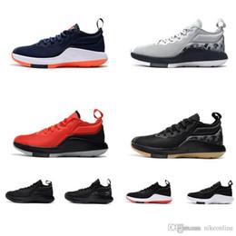 premium selection 70e98 09d9e lebron schuhe zu verkaufen Rabatt Günstige New Mens Lebron Witness 2 II  Basketballschuhe Schwarz Rot Weiß