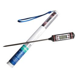 курильщики мяса Скидка Цифровой пищевой термометр ручка стиль кухня барбекю столовая инструменты измерения температуры инструменты приготовления портативный кулинария инструмент с пакетом