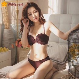 d61d94f8fb Mitcret New Japan Wire Free Bras For Women Push Up Bra Solid Color Bra  Simple Double Breasted Lingerie Comfortable Sexy set