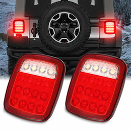 Универсальный светодиодный прицеп задние фонари тормозной сигнал поворота обратный ход назад стоп задние фонари для Jeep YJ JK CJ пикап фургон supplier truck led signal light от Поставщики светодиодный сигнальный фонарь