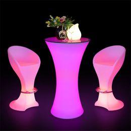 2019 mesas altas 2019 LED Moda iluminado móveis bar recarregável high end cocktail mesa de D60 * mesa de café bar H110cm mesas altas barato